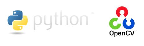 pythonとopencvのロゴ