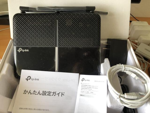 TP-Link Wi-Fiルーター全体写真