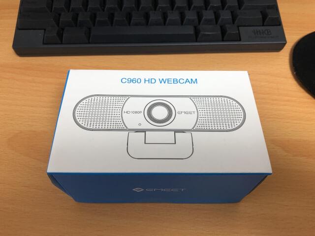 購入して箱に入っているeMeetC960
